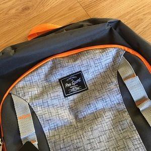 "pro sport Bags - 17"" ProSport Backpack gray black orange"